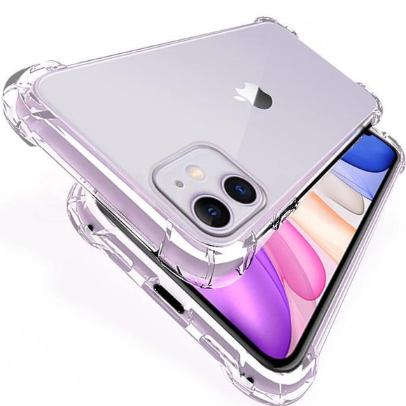 Luxury Shockproof Transparent Silicone iPhone Cases