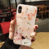 Glitter Marble Design Cell Phone Cases For iPhones