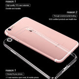 Ultra Thin Slim Transparent Soft iPhone Cases