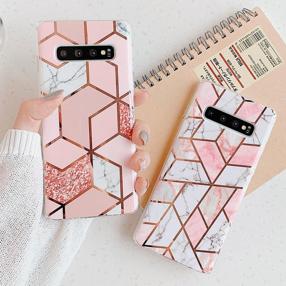 Marble Design Phone Case For Samsung Phones