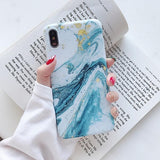 Marble Pattern Phone Case For iPhones