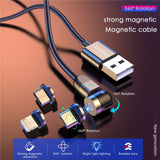 360º Rotatable Magnetic USB Cable Universal