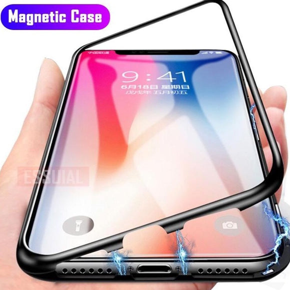 Magnetic Adsorption Metal iPhones Case