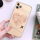 World Map Design iPhone Cases