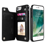 Leather Cell Phone Case with Wallet For iPhones