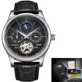 Latest Classic Mens Retro Watches Automatic Genuine Leather Waterproof