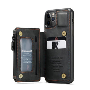 Leather Phone Case With Card Holder for iPhone