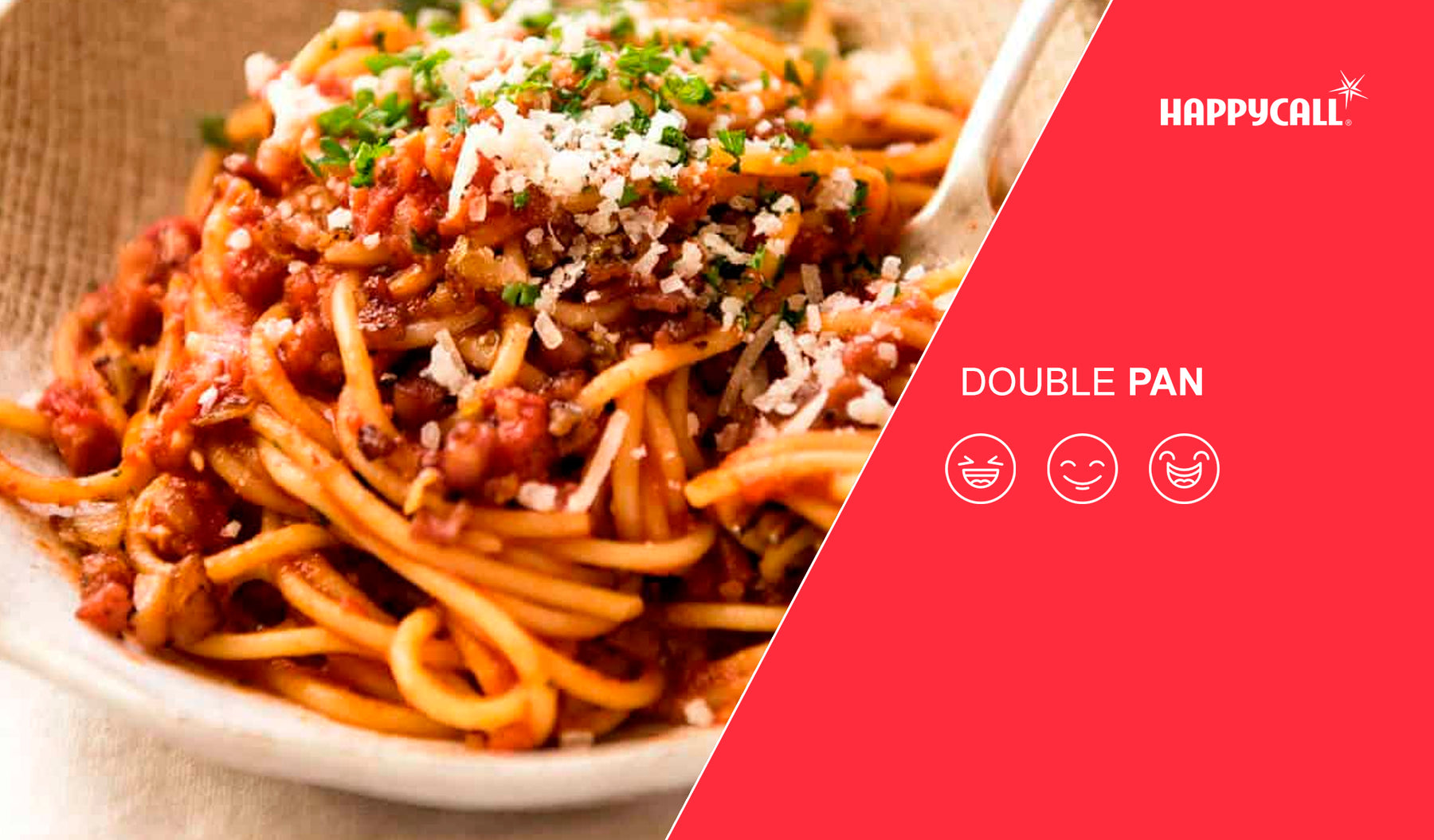 Quick cook bacon and prawn spaghetti with our new Synchro Detachable Double Pan
