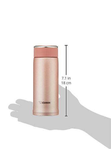Zojirushi SM-LB36-NP Vacuum Insulated Flask 360ml Pinky Gold