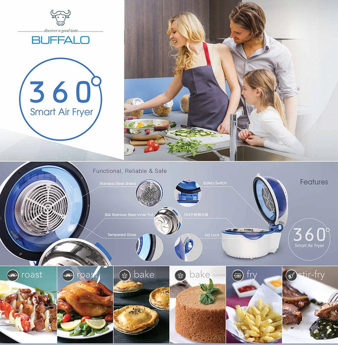 Buffalo Stainless Steel Smart Air Fryer