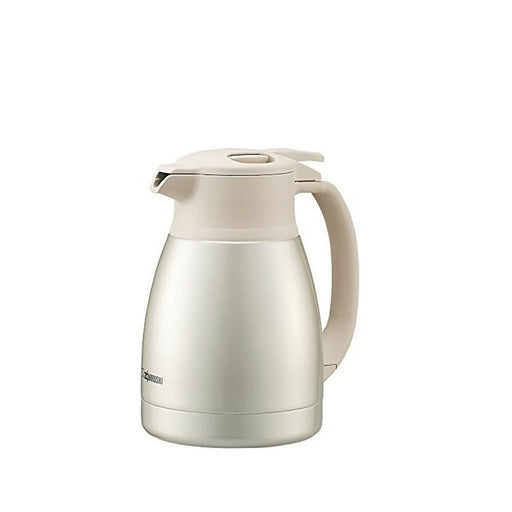 Zojirushi Stainless Steel Vacuum Carafe 1L Pearl White