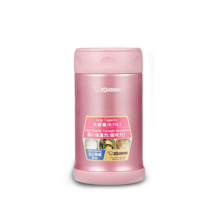Zojirushi Vacuum Food Jar 750ml Pink