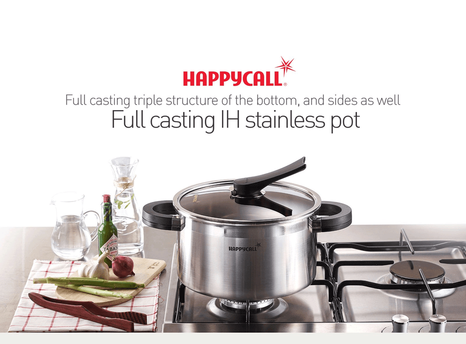 Happycall 3-PLY Clad Stainless Steel Saucepan - 16cm (1.5L)