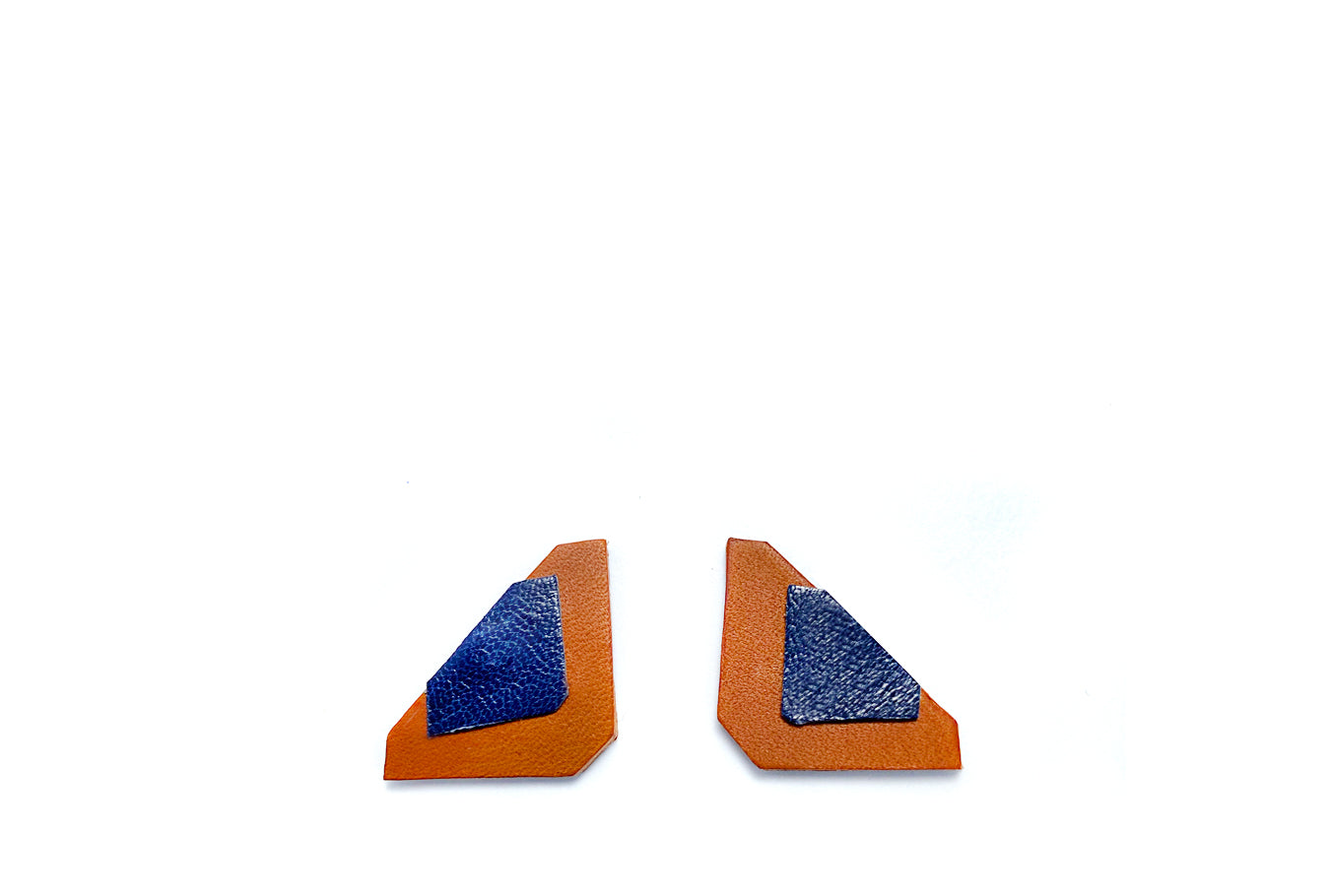 Blue & Brown Asci Earrings