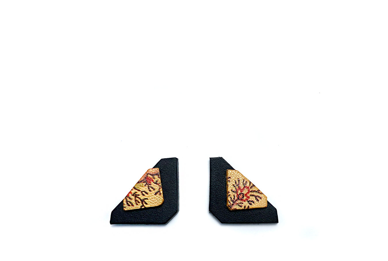 Paisley & Black Asci Earrings