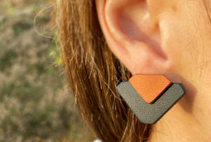 Black & Brown Asci Earrings