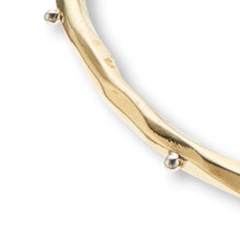 Load image into Gallery viewer, Brass With Silver Dots Opening Bangle