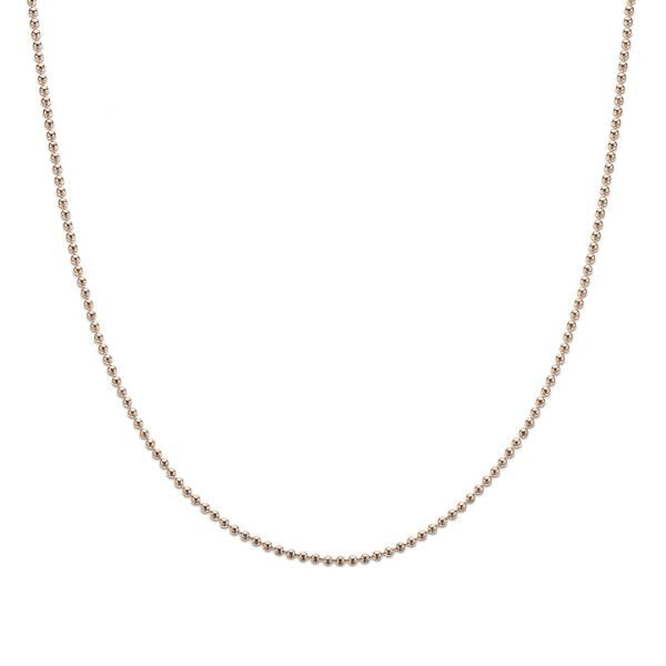 Rose Gold Plate Ball Chain - 50cm