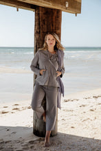 Load image into Gallery viewer, Sand Dune Organic Cotton Hoodie - Titanium/Silver Trim