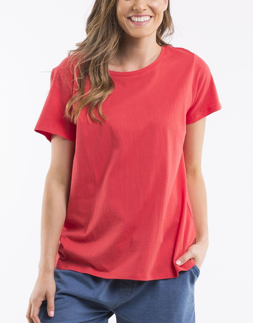 Bonita Twist Back Tee - Red