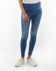 Lenny Jeggings - Washed Blue