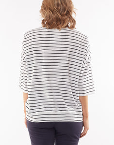 Mazie Sweat - Navy/White Stripe