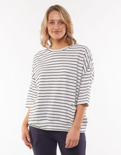 Load image into Gallery viewer, Mazie Sweat - Navy/White Stripe