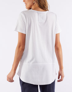 Fundamental Rib S/S Tee - White