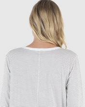 Load image into Gallery viewer, Megan Long Sleeve Top - Black/White