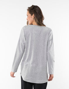 Fundamental Rib L/S - Grey Marle