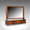 Large, Antique Dressing Table Mirror, Mahogany, Georgian, Platform, Toilet C1800