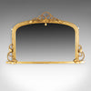Antique Overmantel Mirror, English Regency