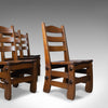 Set of Four Dining Chairs, English, Oak, Arts & Crafts Revival, Late C20th