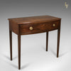 Antique Side Table, Mahogany, Bow Fronted, English, George III, c.1770
