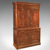 Antique House Keepers Cupboard, French Buffet A Deux Corps, Yew Wood c.1780