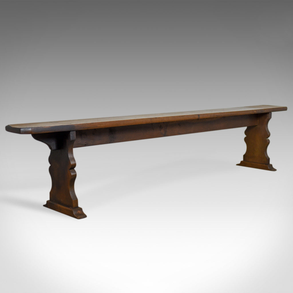 Antique Tavern Bench, Victorian, English Oak, Six Seater Form, Circa 1880 - London Fine Antiques
