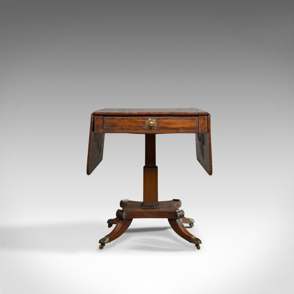 Antique Pembroke Table, English, Mahogany, Drop Leaf, Occasional, Regency - London Fine Antiques