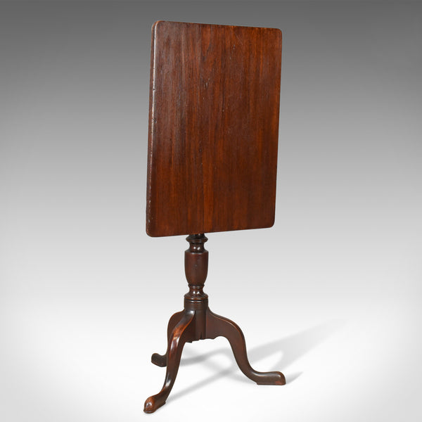 Antique Tilt Top Table, English, Late Georgian, Rectangular, Side, Circa 1800 - London Fine Antiques