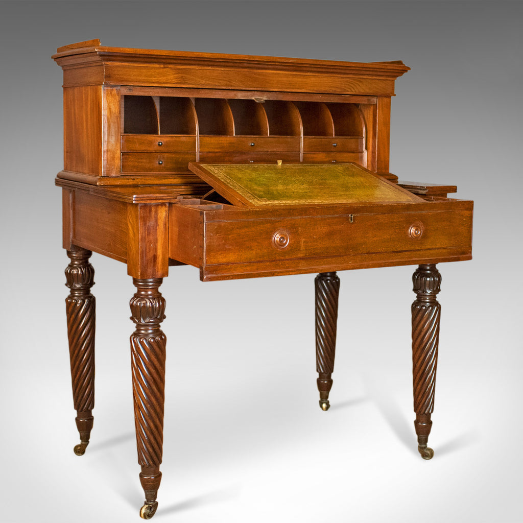 writing angle davenport desk victorian mahogany c london front antique products english