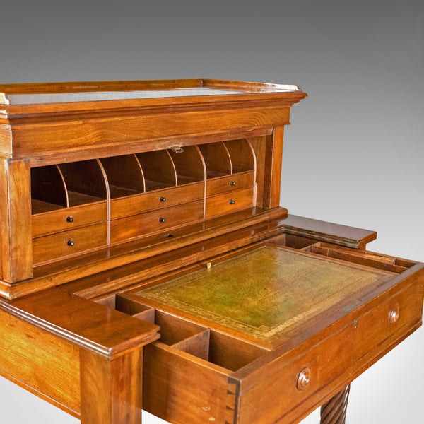 Antique Writing Desk, William IV Bonheur Du Jour, A Solomon, Circa 1835 - London Fine Antiques