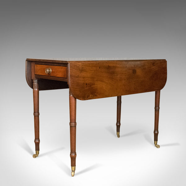 Antique Pembroke Table, Mahogany, English, Georgian, Drop Flap Dining Circa 1820 - London Fine Antiques