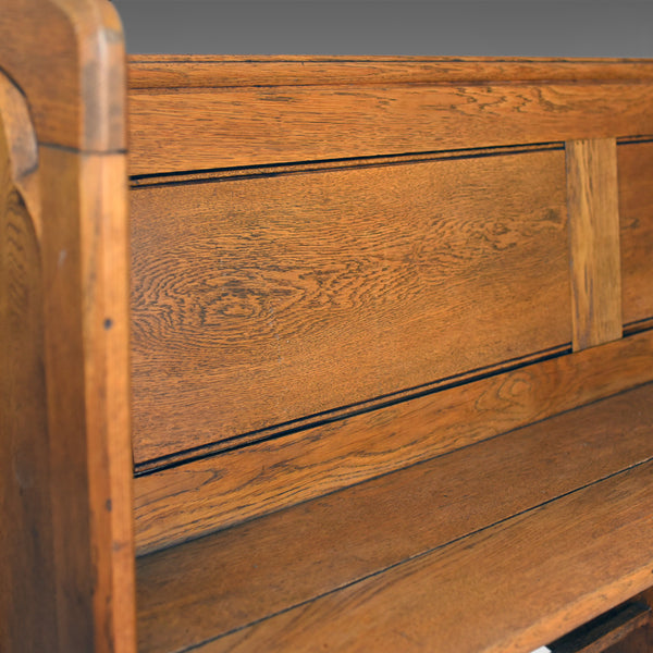 Antique Pew, English, Oak, Church Bench, Pugin-esque Gothic Overtones Circa 1880 - London Fine Antiques