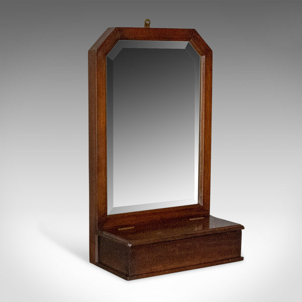 Antique Wall Mirror Valet, English, Hall, Glove Box, Victorian Circa 1890 - London Fine Antiques