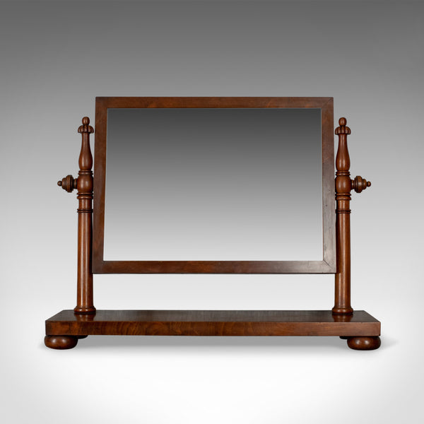 Large Antique Dressing Table Mirror, Flame Mahogany, William IV, Toilet, c.1835 - London Fine Antiques