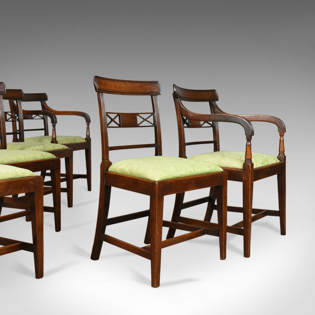 Set of Six Antique Dining Chairs, English, Regency, Mahogany, C19th Circa 1820