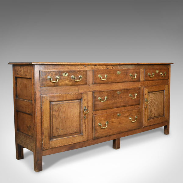 Antique Dresser Base, Victorian, Georgian Revival, Sideboard, English, Oak c1880 - London Fine Antiques