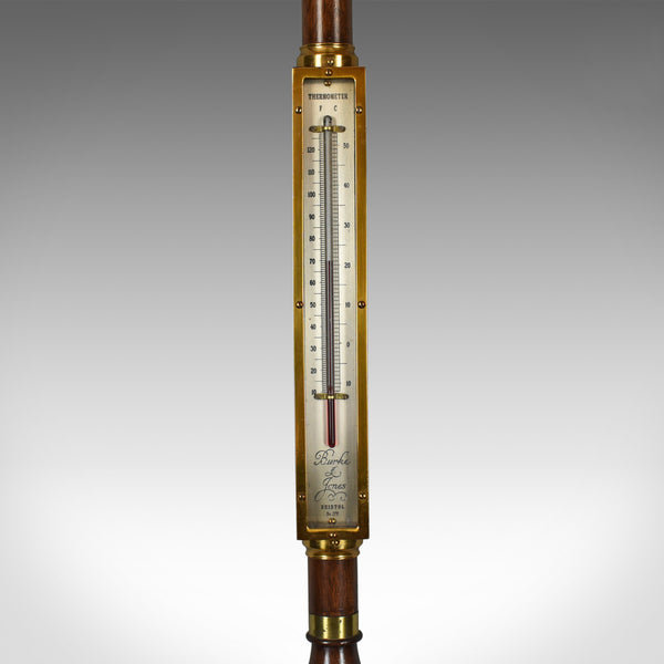 Vintage Stick Barometer, Gimballed Ship's Marine Weather Station, Late C20th