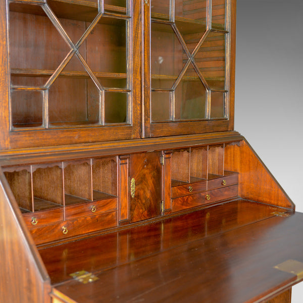 Antique Bureau Bookcase, English, Georgian Mahogany, Circa 1800 - London Fine Antiques