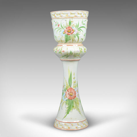 Vintage Ceramic Jardiniere, Floral, Portuguese, Cercapia, Late C20th - London Fine Antiques
