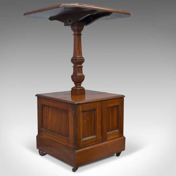 Antique Purdonium, Table and Coal Box, English, Walnut, Early 20th Century c1910 - London Fine Antiques